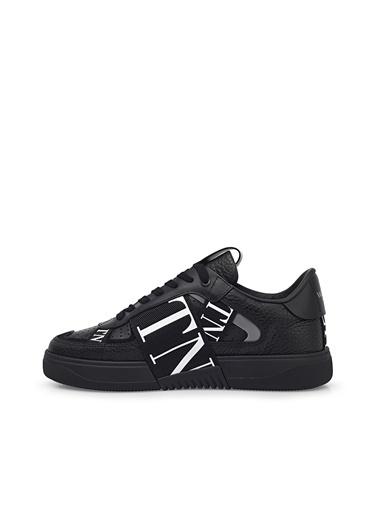 Valentino Hakiki Deri Sneaker Ayakkabı Erkek Ayakkabı S0C58 Wrq 0No Siyah